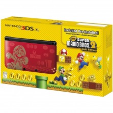Nintendo 3DS XL New Super Mario Bros 2 Gold E..